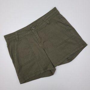 Prana Olive Green Organic Cotton Shorts Size 4
